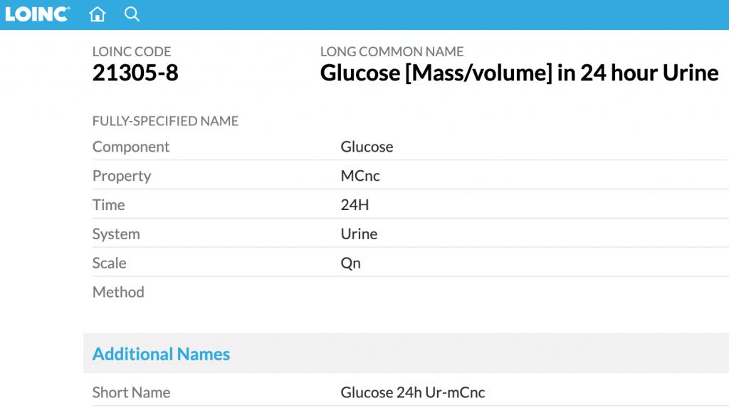 LOINC-glucosa-orina-24h